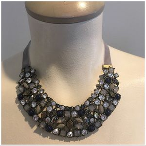 Grey statement necklace